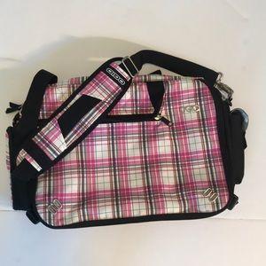 Ogio Pink Plaid Laptop bag- Like New!!!